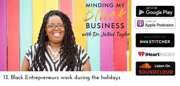 13. Black Entrepreneurs work during the holidays